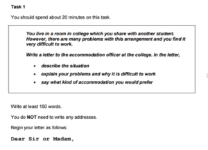 IELTS General Writing Task 1 Sample Task